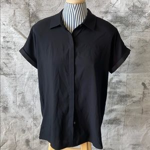 Lord & Taylor black button up shirt -Medium